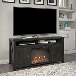 black electric fireplace tv stand big lots