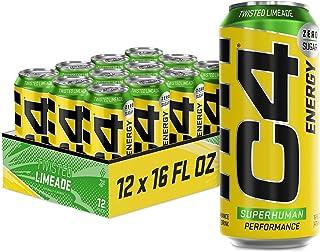 Cellucor C4 Original Carbonated Zero Sugar Energy Drink, Pre Workout Drink + Beta Alanine, Sparkling Twisted Limeade, 16 F...