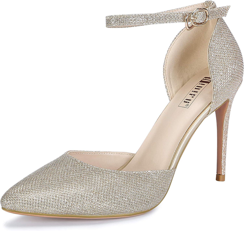 IDIFU Women's IN4 D'Orsay Alice Stiletto High Heel Ankle Strap Bridal Pump