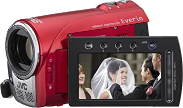 JVC Everio S GZ-MS100 Flash Memory Camcorder w/35x Optical Zoom (Red) (Discontinued by Manufacturer)