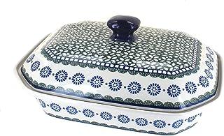 Blue Rose Polish Pottery Maia Large Covered Baking Dish