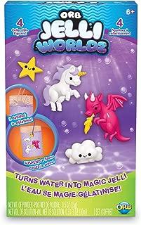 ORB The Factory Jelli Worldz-Unicorns & Dragons Compound Playset, Clear, 5.5
