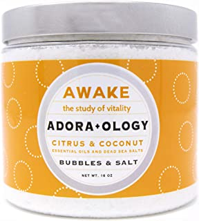 Awake Adora+Ology Best Aromatherapy Bath Bubbles and Salt, Citrus and Coconut Bubble Bath, Epsom Salts Infused with Essent...