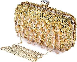 Amazon.es: lentejuelas - Dorado / Bolsos: Zapatos y complementos