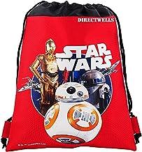 Disney Star Wars Robot BB Authentic Licensed Drawstring Bag Backpack (Red)