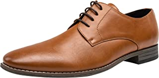 JOUSEN Men's Oxford Plain Toe Dress Shoes Classic Formal Derby Shoes