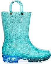 MOFEVER Toddler Kids Light Up Rain Boots
