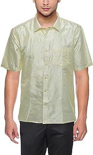 Varasiddhi Silks Men's Casual Pure Silk Shirt