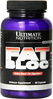 Ultimate Nutrition Fat Bloc Fat Burning Weight Loss Supplement with Chitosan - Increase Metabolism and Lose Weight Fast wi...