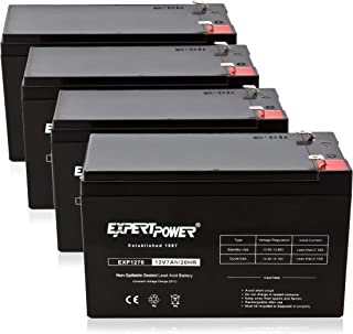 ExpertPower 12v 7ah Rechargeable Sealed Lead Acid Battery || EXP1270|| Replaces APC Back-UPS ES 500 VA, BE500C, BE500U (4 Pack)