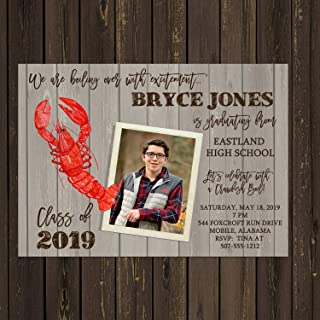 Crawfish Boil Low Country Boil Photo Graduation Invitation, High School or College Graduation Party Invitation, Base price is for 10 5x7