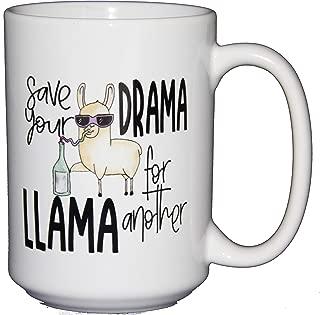 Save Your Drama for Another LLAMA - Funny Coffee Mug Humor - Cute Kawaii Cartoon Puns