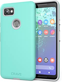 Google Pixel 2 XL Case, Crave Dual Guard Protection Series Case for Google Pixel 2 XL - Mint/Grey