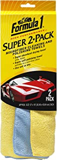 "Formula 1 Super 2-Pack - Microfiber Cleaning and Polishing Towels - For Wet and Dry Applications - 12"" x 16"""