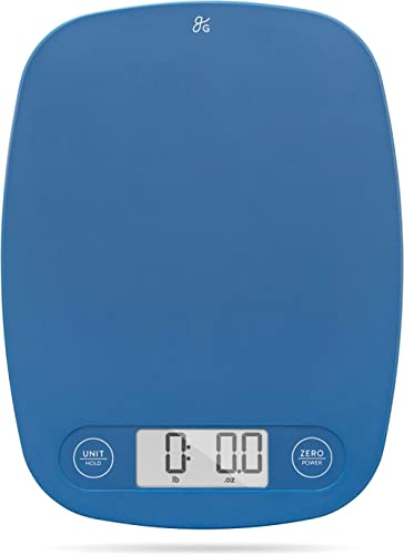GreaterGoods Digital Food Kitchen Scale (Cobalt Blue), Portion Helps Support Global Orphan Project