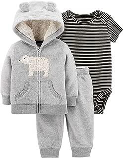 Carter's Baby Boys` 3-Piece Little Jacket Set, Heather Polar Bear, 9 Months