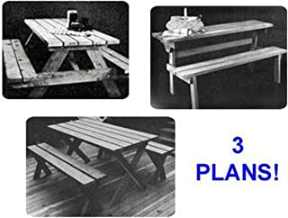 Woodworking Project Paper Plan to Build Picnic Table Value Pack of