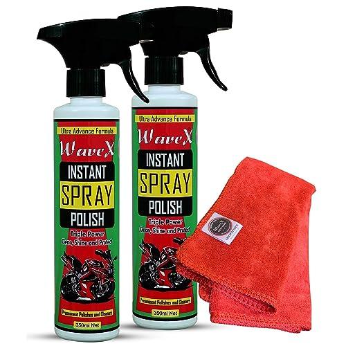 Wavex® Instant Spray Polish (2Pcs,350ML Each) with Microfiber Towel 350gsm