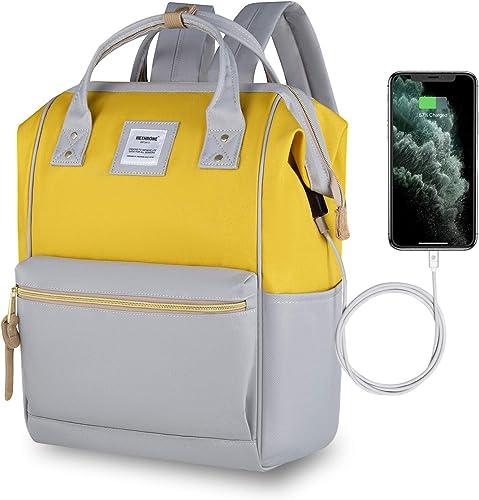 Hethrone Sac à Dos Femme 15.6 Sac à Dos Pc Antivol Imperméable Backpack pour Scolaire Voyage Travail Décontracté Gris...