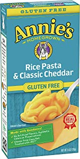 Annie's Gluten Free Macaroni and Cheese Rice Pasta & Cheddar, 12 ct, 6 oz (Pack of 12)
