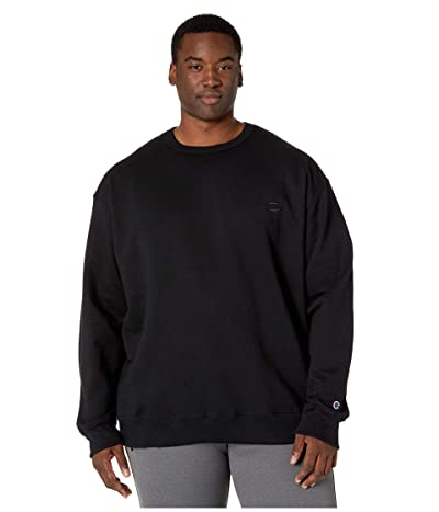 Champion Big Tall Powerblend Fleece Crew (Black) Men