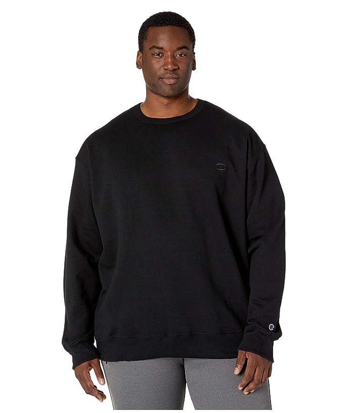 Champion  Big Tall Powerblend Fleece Crew (Black) Mens Sweatshirt