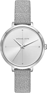 Women's Charley Silver Leather Watch MK2793