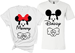 Couple Shirts Dad Mom Couple Matching Pregnancy Announcement T-Shirt-(Sold Separately)