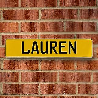 Vintage Parts 686685 Wall Art (Yellow Stamped Aluminum Street Sign Mancave Lauren)
