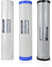Replacement for 3-Stage Whole House 20-Inch Big Blue Water Filtration System w/Sediment and Carbon Block, Iron & Hydrogen Sulfide Reducing Filter – KDF 85 RF-3030