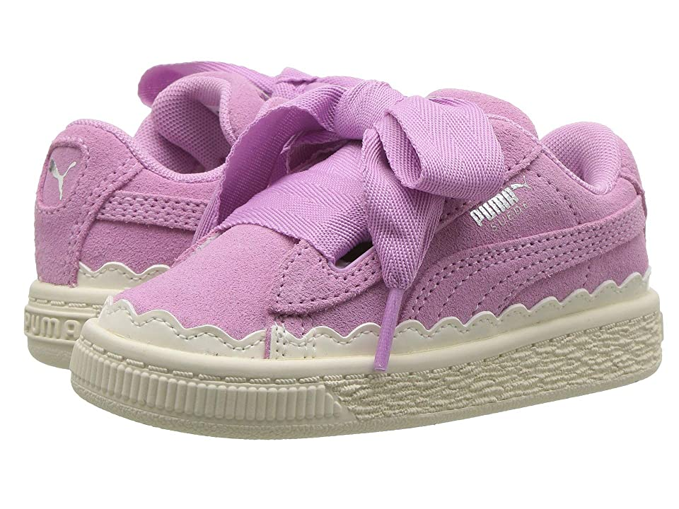 Puma Kids Suede Heart Rubberized (Toddler) (Orchid/Whisper White) Girl