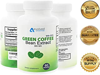 Green Coffee Bean Extract Weight Loss Supplement - Max Strength Natural GCA Antioxidant Cleanse for Weight Loss (w/GCA 800 mg)