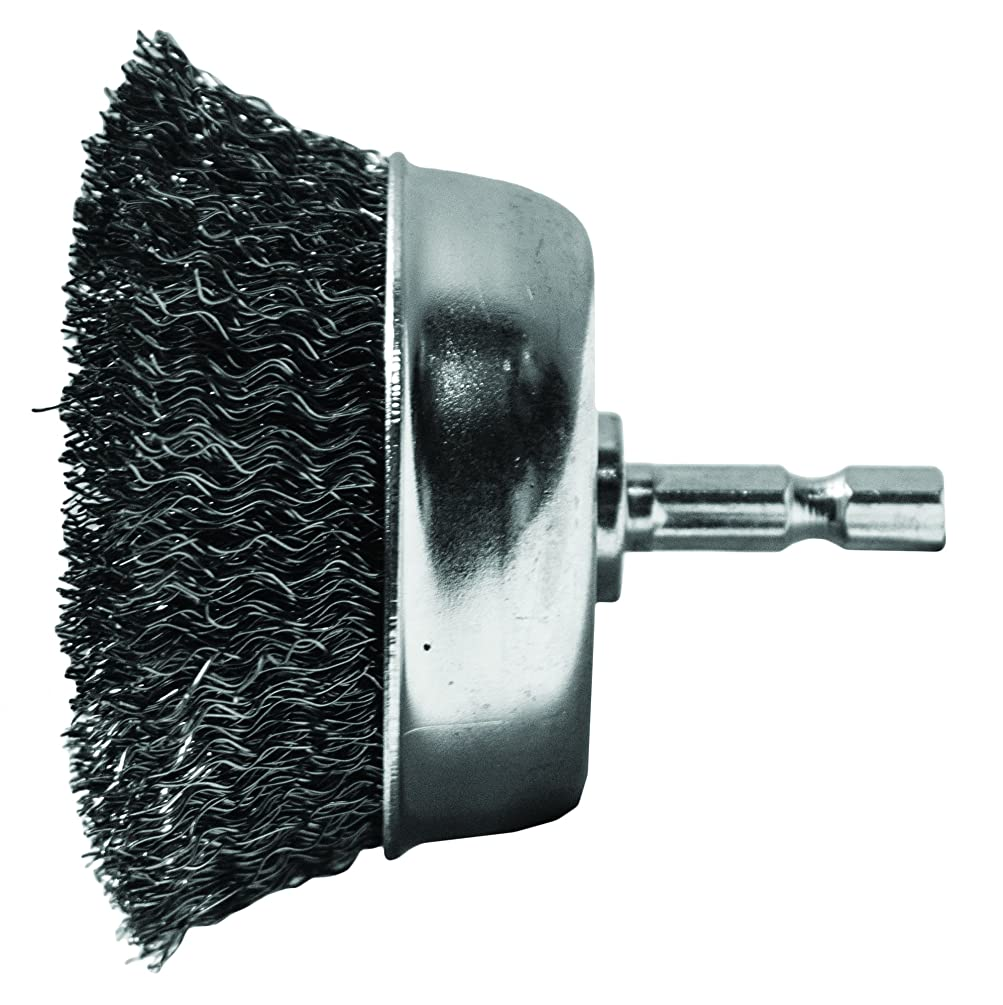Century Drill and Tool 76221 Coarse Drill Cup Wire Brush, 2-3/4-Inch