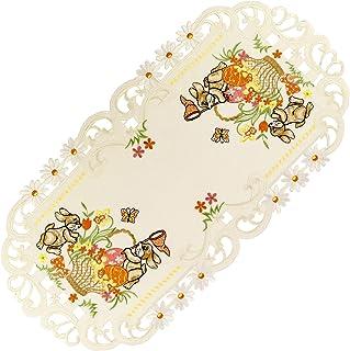 Osterdecke Osterdeckchen Decke Deckchen Tischband Läufer Hase gelb 20 30 cm neu