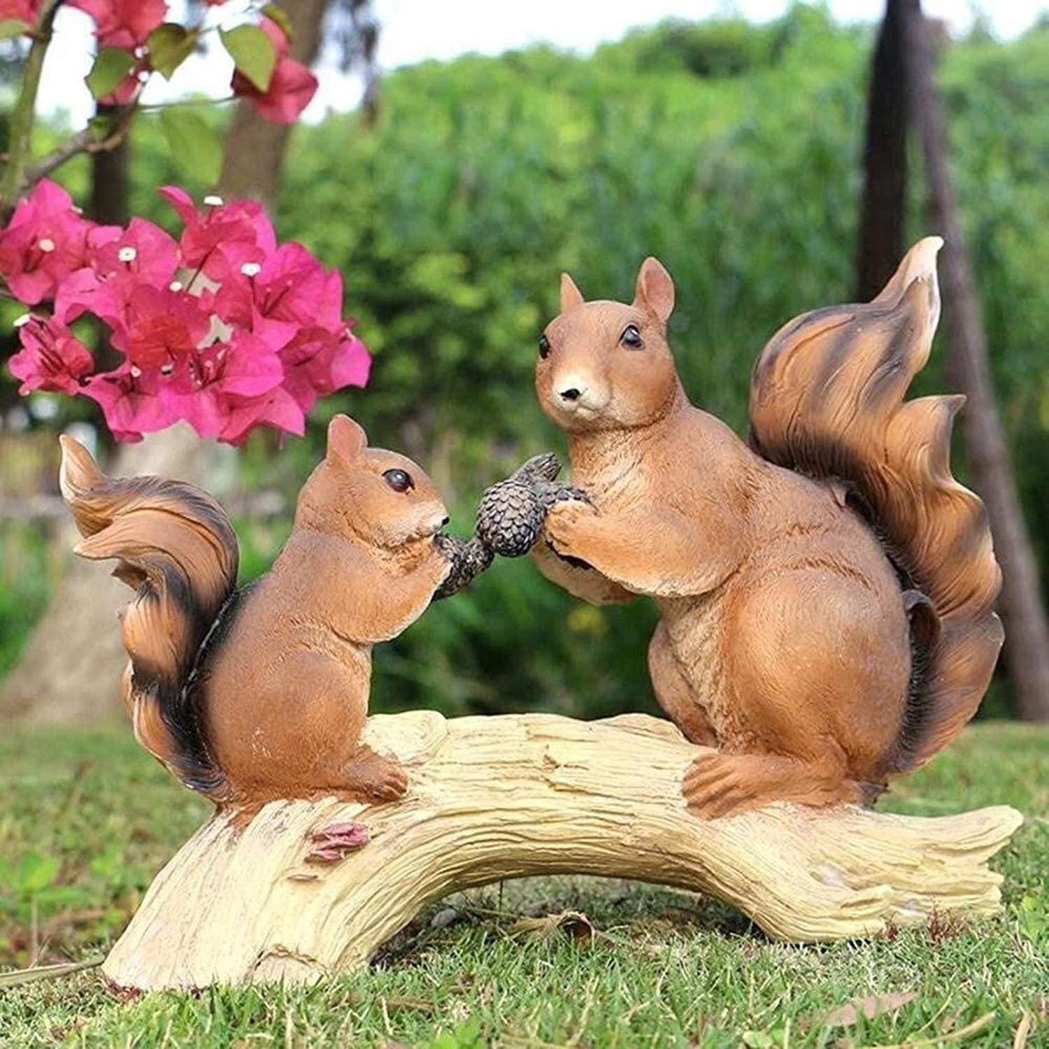 Garden Ornaments Simulate Two Resin Waterproof Squirrels Special Campaign In a popularity