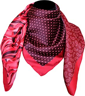 tessago foulard poly dis 92817 var 7 rosso made in italy