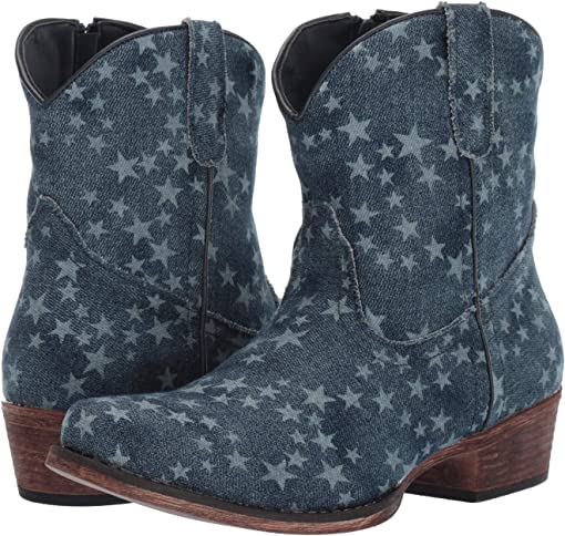 Stonewashed Denim/All-Over Star Print