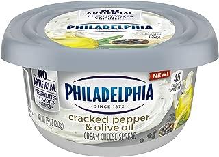 Philadelphia Cracked Pepper & Olive Oil Cream Cheese Spread (7.5 oz Tub)