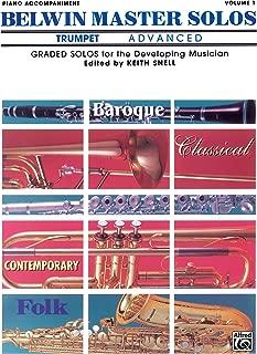 Belwin Master Solos (Trumpet), Vol 1: Advanced Piano Acc.