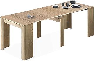 LOUNGITUDE FOTAB4580F Table à Manger, Bois, Chêne, 51/237 x 90 x 78