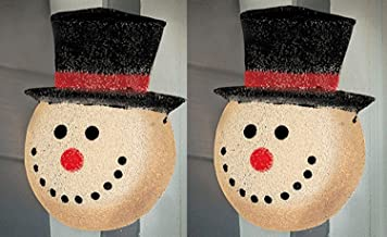 Snowman Holiday Porch Light Cover (2 Pack)