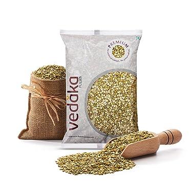 Amazon Brand - Vedaka Premium Green Moong Split / Chilka, 1 kg