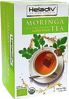 HELADIV Moringa Tea - 100% Organic Moringa Super Food Tea - Energy & Immunity Booster, Weight Loss, Stress Relief - 20 Ind...