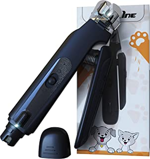 Dog Nail Clippers Grinder Set with LED Light Rechargeable Low Noise Pet Nail Trimmer Paws Grooming for Small Medium Large ...