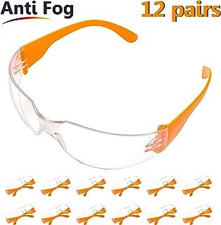 2ab5b2a815 Pack 12 Gafas Protectoras Trabajo con Lentes Transparentes Antivaho - Gafas  Proteccion Resistentes Cómodo y Ligero