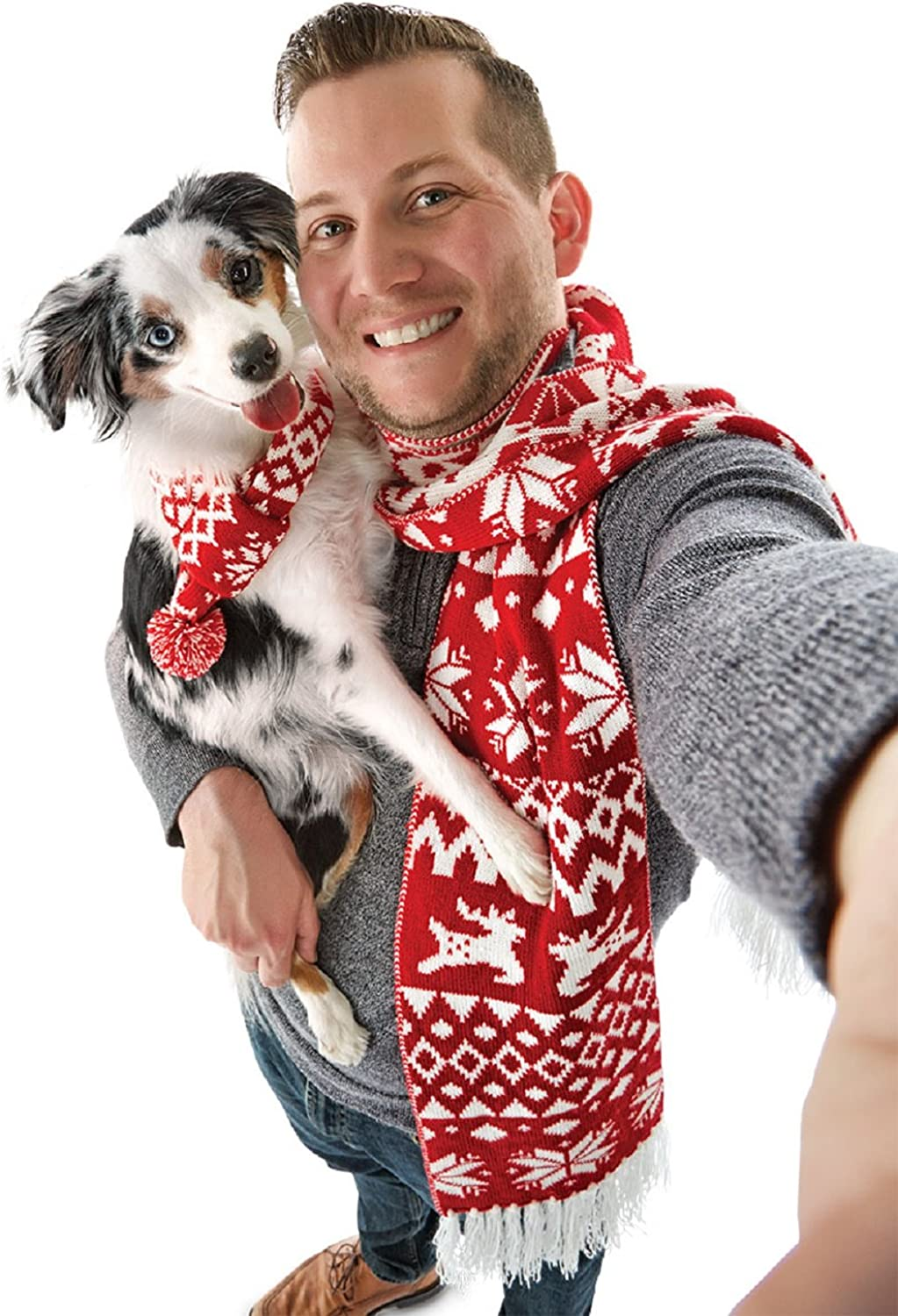 Holiday Pet & Pet Parent Scarf Set