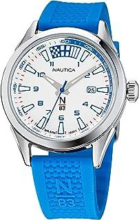 Nautica Men's Quartz Silicone Strap, Blue, 20 Casual Watch (Model: NAPHBS120)