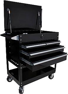 Sunex Tools 8054BK Black 4 Drawer Locking Top Service Cart