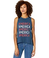 America Graphic Muscle Tank 49-9936