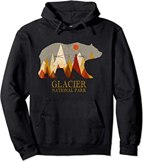 Best Retro Glacier Grizzly Bear Hoodie National Park Gift Review